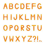 Vector shiny letters set Stock Image