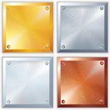 Vector Shiny Metal Signs Stock Photos