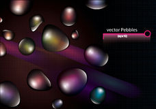 Vector shiny pebbles Royalty Free Stock Photos