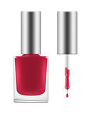Vector shiny pink nail polish. Royalty Free Stock Photo