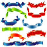 Vector shiny ribbons Royalty Free Stock Images