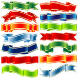 Vector shiny ribbons Stock Photography