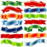 Vector shiny ribbons Stock Photography