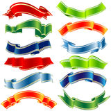 Vector shiny ribbons Stock Images