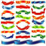 Vector shiny ribbons Royalty Free Stock Image