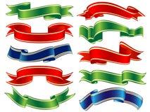 Vector shiny ribbons Stock Photo