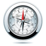 vector shiny silver compass Royalty Free Stock Photography