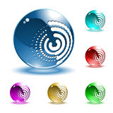 Vector shiny spheres royalty free illustration