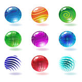 Vector shiny spheres stock illustration