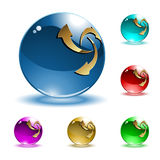 Vector shiny spheres Stock Photo