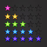 Vector shiny stars Royalty Free Stock Images