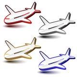 vector shiny symbols of airplanes vector illustration