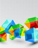 Vector shiny transparent glass cube background Royalty Free Stock Photos
