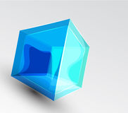 Vector shiny transparent glass cube background Royalty Free Stock Images