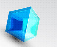 Vector shiny transparent glass cube background Royalty Free Stock Photo