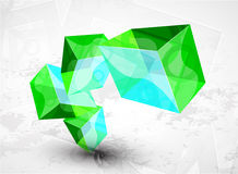 Vector shiny transparent glass cube background Royalty Free Stock Photography