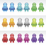 Vector Shiny Users. EPS 8.0 file available Royalty Free Stock Images