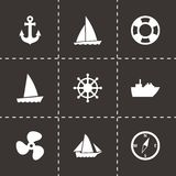 Vector ship and boat icon set Royalty Free Stock Photography
