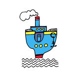 Vector ship sea nautical illustration marine travel sailboa. Boat vector ship sea nautical illustration marine travel sailboat ocean icon transport Royalty Free Stock Images