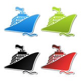vector ship stickers Stock Images