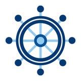 Vector Ship Wheel. Steering wheel vector illustration Royalty Free Stock Photos