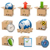 Vector Shipment Icons Set 9 Stock Image