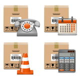 Vector Shipment Icons Set 13 Royalty Free Stock Images