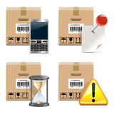 Vector Shipment Icons Set 14 Royalty Free Stock Photo