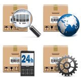 Vector Shipment Icons Set 15. On white background Royalty Free Stock Photography