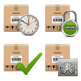 Vector Shipment Icons Set 16 Royalty Free Stock Photo