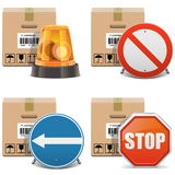 Vector Shipment Icons Set 24 Stock Photography