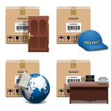 Vector Shipment Icons Set 28 Stock Photography