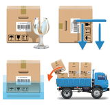 Vector Shipment Icons Set 31. On white background Stock Images