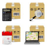 Vector shipment icons Royalty Free Stock Image