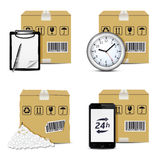 Vector shipment icons. Set 2 Royalty Free Stock Photos