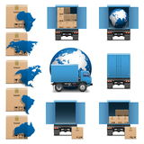 Vector Shipment Trucks Icons set 3 Stock Photography
