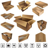 Vector shipping box Royalty Free Stock Photos