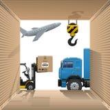 Vector Shipping Concept Stock Photography