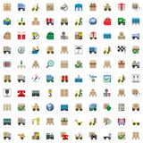 Vector Shipping Icons Set Stock Photos