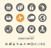 Vector Shipping, Logistics and cargo icon set Stock Images