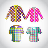 Vector shirt with pattern design Royalty Free Stock Photos