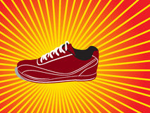Vector shoe background Stock Photos