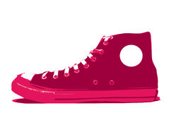 Vector shoe convers. An illustration of a casual sports shoe Stock Image