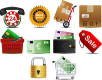 vector Shoping pictogramdeel 1 stock illustratie