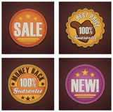 Vector shopping badges set Royalty Free Stock Images