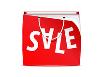 Vector shopping bag Royalty Free Stock Image