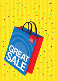 Vector shopping bag Royalty Free Stock Images