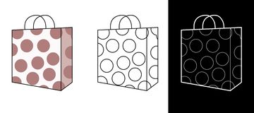 Vector - Shopping Bag Royalty Free Stock Images