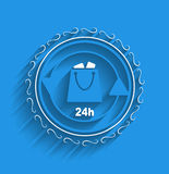 Vector shopping bag icon modern flat design Royalty Free Stock Images