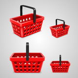 Vector shopping bag with round holes. red Stock Images